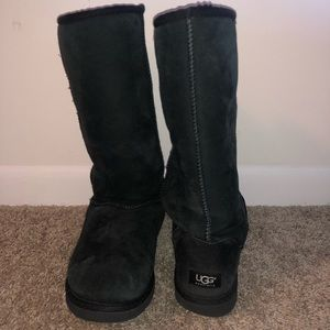 Tall Authentic Black Ugg Boots